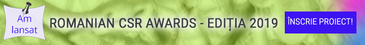 Romanian CSR Awards - 2019 - Inscrie proiect